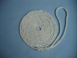 "1/2"" X 25' NYLON 3-STRAND TWIST DOCK LINE - WHITE"